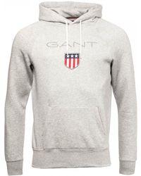 GANT Shield Sweat Hoodie - Grey