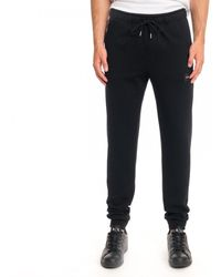 Calvin Klein Cotton Logo Badge Sweat Pants - Black
