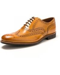 Grenson Dylan Tan Calf Brogue Dnbn F - Brown
