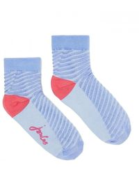 Joules Brill Bamboo Shortie Socks - Blue