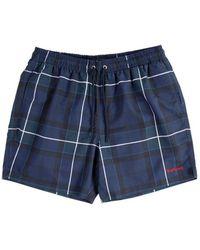 Barbour Tartan Swim Shorts - Blue
