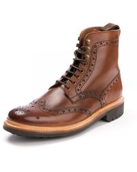 Grenson Fred Handpainted Tan Brogue - Brown
