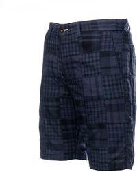 GANT O2. The Madras Mens Shorts - Blue