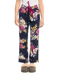 Joules Snooze Womens Woven Pyjama Bottoms A/w - Blue