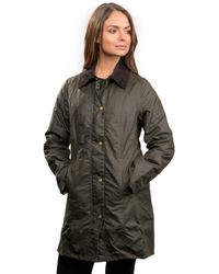 Barbour Belsay Wax Ladies Jacket - Green