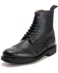 Grenson Fred C Vegan Black Shoes
