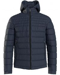 Tommy Hilfiger Packable Down Hooded Jacket - Blue