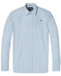 Scotch & Soda Relaxed Fit Poplin Shirt - Blue