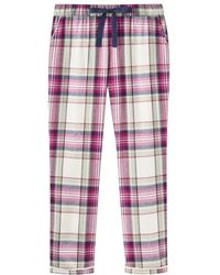 Joules - Snooze Long Woven Womens Pj Bottom With Lace Detail (z) - Lyst