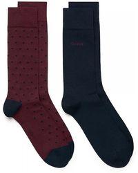 GANT - 2-pk Dot And Solid Mens Socks - Lyst