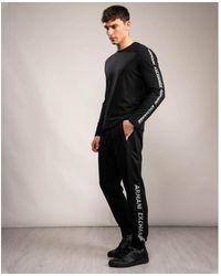 Armani Exchange Logo Strip Sweatpants - Black