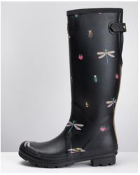 Joules Welly Print Wellies - Black