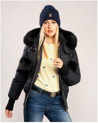 Moose Knuckles Debbie Bomber Jacket - Blue