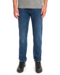 Calvin Klein Slim Comfort Denim Jeans - Blue