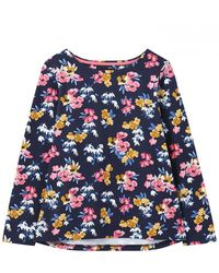 Joules Long Sleeve Jersey Top Harbour Print - Blue