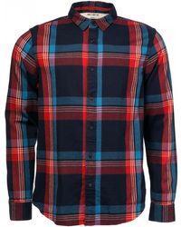 Scotch & Soda Regular Fit Flanel Shirt In Bright Colour Checks - Red