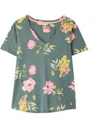 Joules Celina Print Top - Green