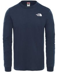 The North Face L/s Simple Dome Tee - Blue