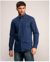 Calvin Klein Recycled Poly Check Shirt - Blue
