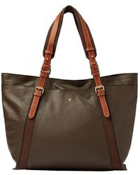 Joules Carriage Leather Large Tote Bag A/w - Brown