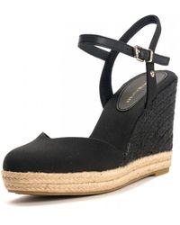 Tommy Hilfiger Basic Closed Toe Hig Sandals - Black