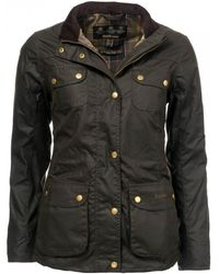 Barbour Wharf Wax Womens Jacket - Green