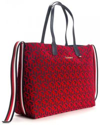 Tommy Hilfiger Iconic Tommy Womens Tote - Red
