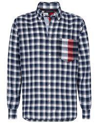 Tommy Hilfiger Gingham Global Strip Shirt - Blue
