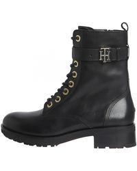 Tommy Hilfiger Th Essentials Biker Boot - Black