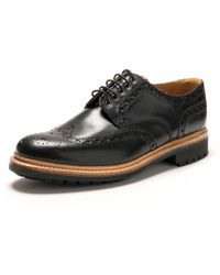 Grenson - Archie Black Calf Mens Brogue - Lyst