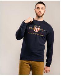 GANT D1. Archive Shield Sweatshirt - Blue