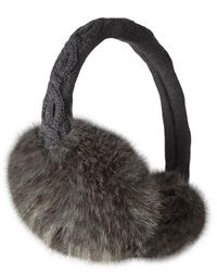 Barts Fur Earmuffs - Gray