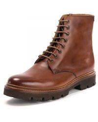 Grenson Hadley Tan Shoes - Brown