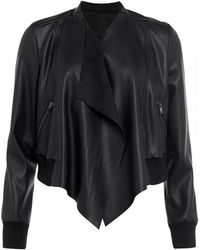 French Connection - Abellana Pu Womens Bomber Jacket - Lyst