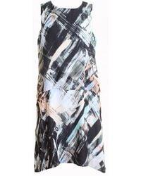 Great Plains Pastel Paint Layered Dress - Multicolor