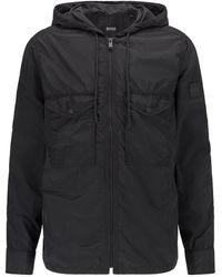 BOSS by HUGO BOSS Lovelohoodie Zip Up Overshirt Jacket - Black