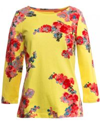 Joules Harbour Print Printed Jersey Top S/s - Black