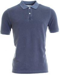 Fynch-Hatton Basic Washed Polo Shirt - Blue