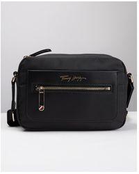 Tommy Hilfiger Tommy Fresh Gold Logo Bag - Black