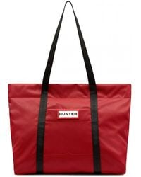 HUNTER Original Nylon Weekender Bag - Red