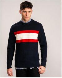Tommy Hilfiger Ribbed Chest Stripe - Blue