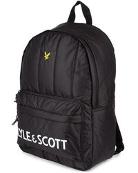 Lyle & Scott Wadded Backpack - Black
