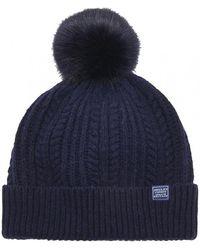 20aaaea89 Cable Bobble Hat (z) - Blue