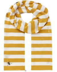 Joules Lightweight Printed Scarf Eco Conway - Yellow