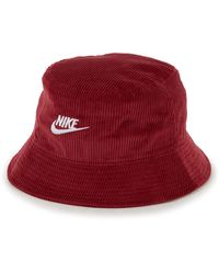 Nike Bob bucket futura corduroy - Rouge