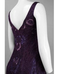 Sue Wong C2411 V-neck Embroidered Sheath Cocktail Dress - Purple