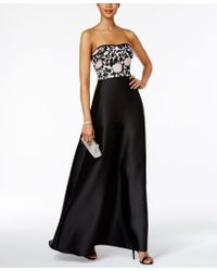 Adrianna Papell Ap1e201123 Semi-sweetheart Floral Embellished Dress - Black