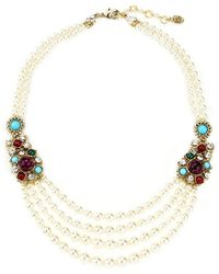 Ben-Amun - Byzantine Pearl Necklace With Stones - Lyst
