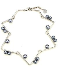 Ben-Amun - Sculptural Geometric Necklace With Pearls - Lyst