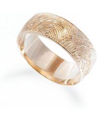 Ashley Schenkein Jewelry - Men's Fingerprint Wedding Band - Lyst